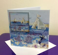 Sail Away, Halcyon Days, Crafters Companion Crafters Companion Cards, Halcyon Days, Bunting, Seaside, Card Ideas, Nautical, Card Making, Crafty, Beach