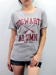 Looking for discount designer fashion? Come visit www.kpopcity.net today!!! Maroon Hogwarts Alumni Shirt Harry Potter Shirt by Promegranate, $15.99 I WANTTTTTTTT-Melissa