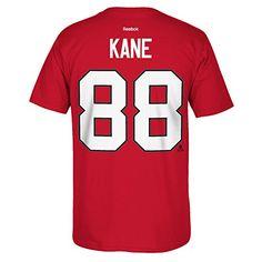 Reebok Chicago Blackhawks Patrick Kane Player Name & Number T-shirt ,Small
