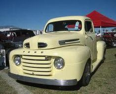 Ford F Series Trucks production from 1948 to 1952 Range of and engines from to (Photo Mister Falcon) 1948 Ford Truck, Old Ford Trucks, Old Pickup Trucks, New Trucks, Cool Trucks, F100 Truck, Ford Serie F, Ford F Series, Antique Trucks
