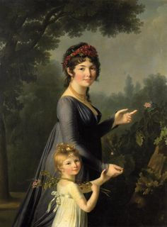 1800s Fashion, Elisabeth, Blue Gown, Art And Technology, French Artists, Mother And Child, Heritage Image, Portrait Art, Marie Antoinette