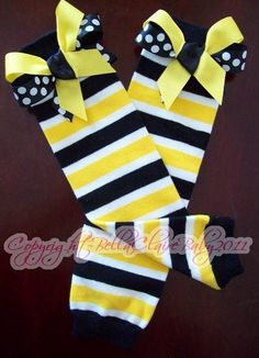 Leg warmers, so cute! Go perfect with Lily's hawkeye jersey! $13.00