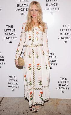 Poppy Delevinge wearing Chanel Dress
