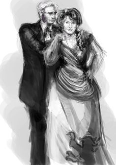 gameofthronesgroupie:  i have this game of thrones/asoiaf 1920s-30s au, which means there's also a separate 1870s-1880s au if i want to draw young 1870s tywin and joanna. which i did.  joanna should be blonder but i'll get to that when this isn't a grisaille and i haven't been working on this for like ten hours