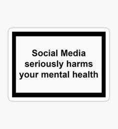 Pegatina Las redes sociales perjudican la salud mental Pop Stickers, Bubble Stickers, Meme Stickers, Printable Stickers, Homemade Stickers, Aesthetic Phone Case, Aesthetic Words, Aesthetic Stickers, Tweet Quotes