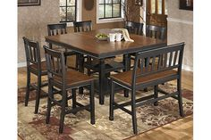 Black/Brown Owingsville Counter Height Dining Room Table View 3