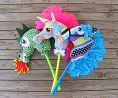 dragon+wing+tutorial+sewing | Here are some handmade hobby horses I made for my young niece and ...