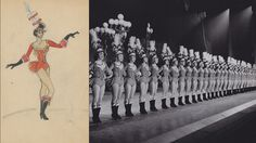 "Frank Spencer drummed up this majorette costume for the 1953 show, ""Many Waters,"" starring the #Rockettes."