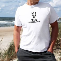 YES UKRAINE 2014 Mens T SHIRT ENGLAND BRITAIN ALL SIZE VOGUE HYPE GYM SPORT TEE