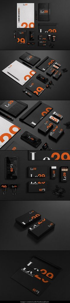 Le29 Brand Identity Design by Juan Alfonso Solís Martínez | #stationary #corporate #design #corporatedesign #identity #branding #marketing < repinned by www.BlickeDeeler.de | Take a look at www.LogoGestaltung-Hamburg.de