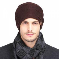 Autumn winter knit beanie hat for men warm casual sports knit hats Mens Knit Beanie, Beanie Hats, Sport Casual, Men Casual, Winter Knit Hats, Fall Winter, Autumn, Hat For Man, Knitted Hats