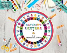 Pre-K Kids Alphabet Matching Wheel Game, Print Cut and Play Uppercase Letters Game, Busy Binder Activity, Learning Activity Printable DIY Alphabet For Kids, Alphabet Activities, Preschool Activities, Pre K Games, Middle Childhood, Letter Games, Alphabet Coloring Pages, Homeschool Kindergarten, Letter Tracing