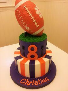 Clemson football birthday cake.