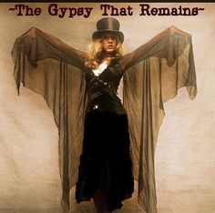 a lovely Stevie photo edit   ~ ☆♥❤♥☆ ~   at heart, Stevie will always be a gypsy ~ love how her sheer black chiffon 'wings' are outspread