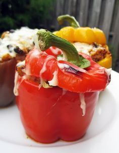 Southwestern Stuffed Peppers _ It's a simple meal with a stunning presentation!