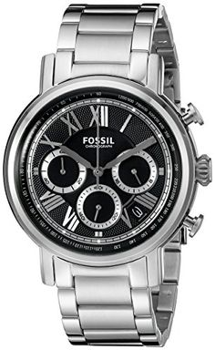 Men's Wrist Watches - Fossil Mens Buchanan Chronograph Stainless Steel Watch ** Visit the image link more details. Fossil Watches For Men, Wrist Watches, Silver Man, Stainless Steel Watch, Michael Kors Watch, Chronograph, Accessories, Image Link, Watches