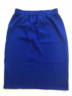 7ad6ba198f St. John Collection By Marie Gray Blue Pencil knit Skirt size 8 1050  StJohn