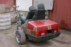 #trike #chopper with #carseats #automobile #rearend #DatAss #LetsGetWordy