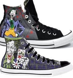 the best attitude c8680 adb1f Converse All Star Joker vs Batman Hi