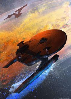 Spaceship Concept, Concept Ships, Uss Discovery, Star Trek Enterprise, Futurama, Trekking, Star Wars, Stark Trek, Fandoms