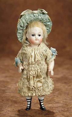 "Hard-Working Antique Miniature China Doll 5.5"" Selling Well All Over The World Dolls & Bears"