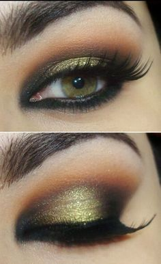 Smokey olive and orange eye