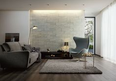 Simple Interior, Gray Interior, Old Apartments, Woman Cave, Grey Flooring, House Made, Patio Design, Building A House, Table