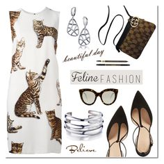 """Feline Fashion"" by mada-malureanu ❤ liked on Polyvore featuring Dolce&Gabbana, Tory Burch, Gucci, Victoria Beckham, Yves Saint Laurent, Silver, jewelry, catstyle and revekarose"