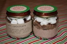 fresh crafts: fresh homemade christmas gifts - hot chocolate in a baby food jar love this idea from Cassi