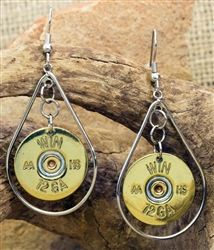 "12 GA Gold ""Betty"" ammo earrings 