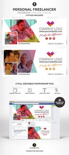 Personal Freelancer Facebook Timeline Cover Template PSD. Download here: http://graphicriver.net/item/facebook-timeline-cover-personal-freelancer/15193636?ref=ksioks