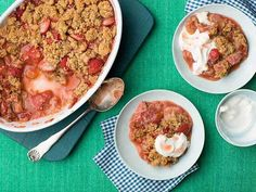Get Strawberry Rhubarb Crisp Recipe from Food Network