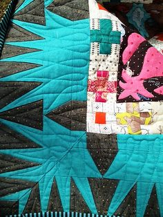 CN quilted corner blocks. By Lorena in Sydney...