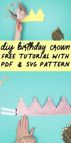 Learn how to make a birthday crown with this easy step by step tutorial and FREE pdf pattern!  Video tutorial makes it easy to follow.  This is an adorable birthday gift or birthday accessory for kids or for adults! #birthdaycrown #diycrown #cricutmade #cricut #cricutmaker #cricutcreated #cricut #cricutmade  #diy #handmade   #cricutcrafts  #freesvg   #svgfile  #freesewingpattern #sewingproject Diy Birthday Crown, Fun Projects, Sewing Projects, Birthday Accessories, Diy Crown, Easy Sewing Patterns, Quilting For Beginners, Free Sewing, Diy Tutorial