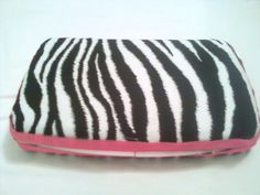 Wipes case- zebra stripes with hot pink ribbon. $5.50