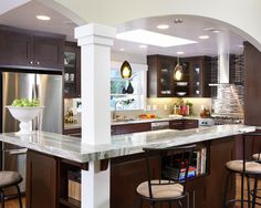 Open Kitchen With Support Wall Design, Pictures, Remodel, Decor and Ideas - page 5