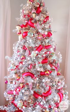 Sweet and tasty holiday centerpiece from @inspiredbycharm featuring our Tinkerbell Silver Christmas Tree