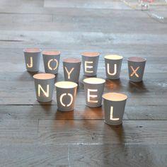 Déco de table : Photophores Noël (lot de 10)