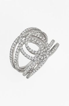 Nordstrom Bony Levy 'Double Interlock' Diamond Cocktail Ring Exclusive) on shopstyle.com