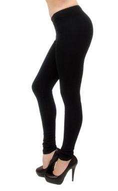 Vivian`s Fashions Long Leggings - Cotton Stretch $17.99