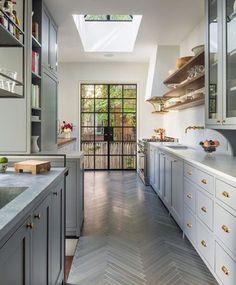 Omg - floor, shelving, cabinets, hardware, windows, skylight.  Love it all.