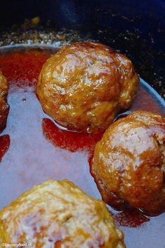 gehaktballen 6 Healthy Slow Cooker, Healthy Crockpot Recipes, Meat Recipes, Granny's Recipe, How To Cook Meatballs, Dutch Recipes, Everyday Food, No Cook Meals, Food For Thought