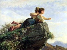 Giuseppe Palizzi - Vista de la roca