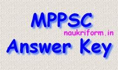 MPPSC Answer Key 2015 mppsc.nic.in Assistant Engineer Exam