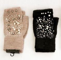 Pearl & Fur Gloves   Bijoux London