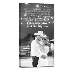 She's like Texas ....  Wedding gifts photo and words on canvas ...   by Geezees
