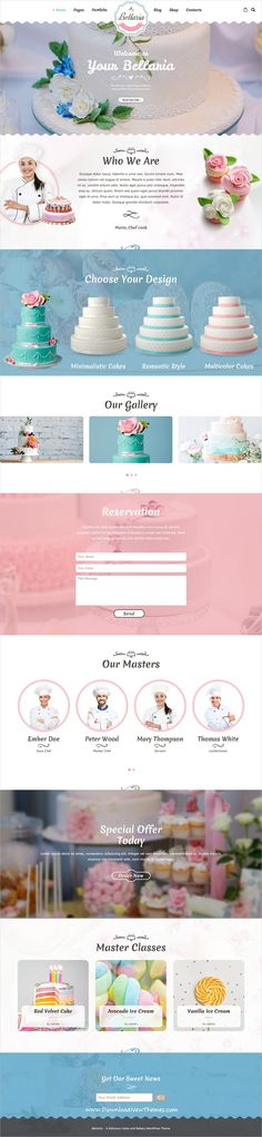 Bellaria is clean, stylish and modern design 5+ responsive WordPress #theme for premium #sweets, #cakes, #bakery and coffee #shop beautiful website to live preview & download click on image or Visit