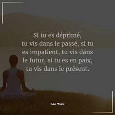 """#Citation du jour : #Attitude & #Pensée #Positive. """"Si tu es déprimé, tu vis dans le passé, si tu es impatient, tu vis dans le futur, si tu es en paix, tu vis dans le présent."""" - Lao Tseu   Si vous souhaitez faire partie de nos #partenaires ou parmi nos #équipes expérimentées, n'hésitez pas à nous contacter pour tous renseignements #Email: contact@bionoxo.com #PositiveQuoteNº210."""