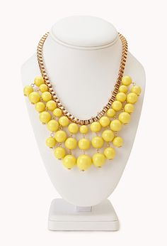Standout Beaded Bib Necklace | FOREVER 21 - 1000065002  http://www.forever21.com/Mobile/Product/Product.aspx?br=mobile&category=acc_jewelry-necklace&productid=1000065002