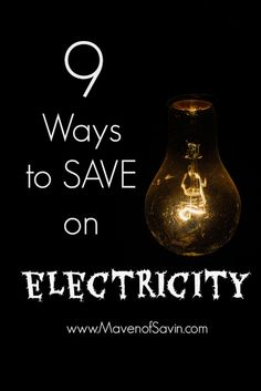 Electricity rates skyrocket during the winter months.  Find out 9 ways to SAVE in Electricity through rate reduction and reducing consumption.
